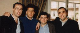 Con Alberto Comesaa, Manolo Tena y Joseba Torre